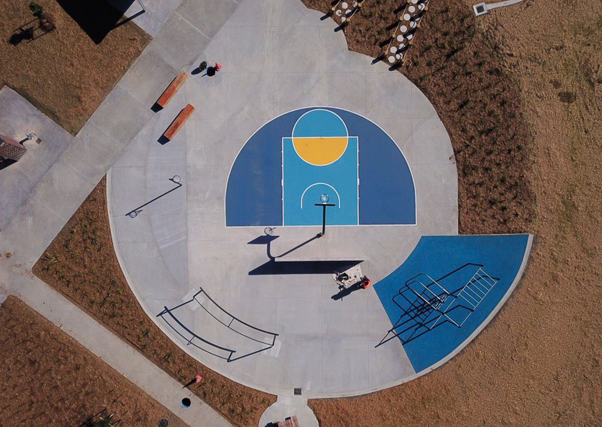 Basketball D Court Bonair Reserve